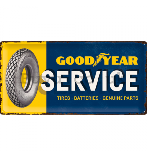 Metal sign: Good Year Service - 25x50 cm