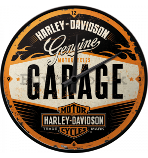 Retro wall clocks - Harley-Davidson Garage