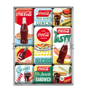 Set of magnets - Coca-Cola (Tasty Lunch)