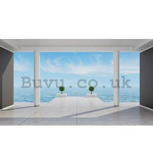 Vlies wall mural : Sea view (terrace) - 184x254 cm