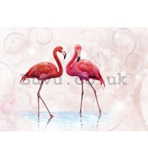 Painting on canvas: Flamingos - 75x100 cm