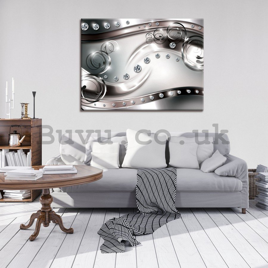 Painting on canvas: Luxurious abstraction (black and white) - 75x100 c