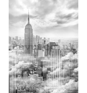 Painting on canvas: New York in mist - 100x75 cm