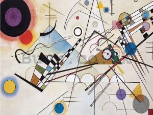 Painting on canvas: Composition 8, Vasilij Kandinsky - 75x100 cm