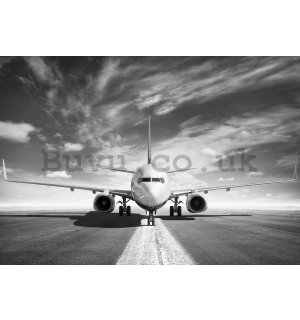 Painting on canvas: Airplane (black and white) - 75x100 cm