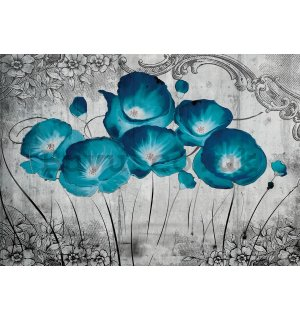 Painting on canvas: Poppy (Negative) - 75x100 cm