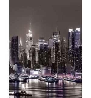Wall Mural: New York at night - 254x184 cm