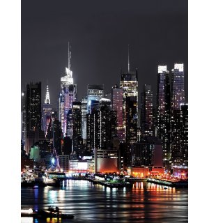 Wall Mural: New York at night (2) - 254x184 cm