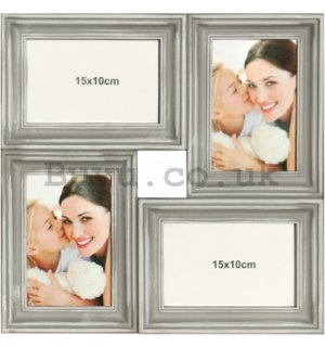Photo frame - 4 windows, 10x15cm (Gray)