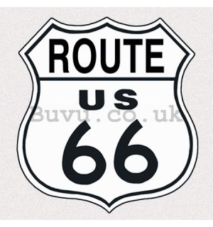 Metal sign - Route 66 (White Sign)