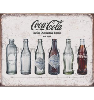 Metal sign - Coca-Cola (Retro Bottles)