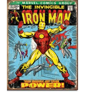 Metal sign - Marvel Comics (Ironman)