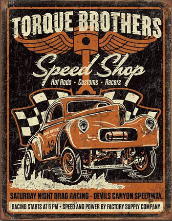 Metal sign - Torque Bros (Gasser)