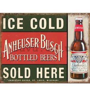 Metal sign - Ice Cold Anheuser-Busch Sold Here