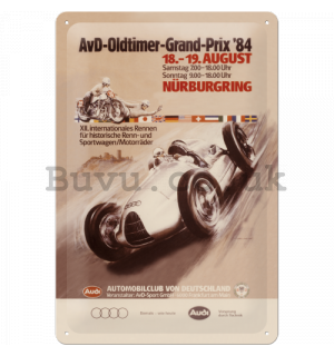 Metal sign - Audi AvD Oldtimer Grand Prix
