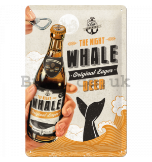 Metal sign - Beer (The Night Whale)