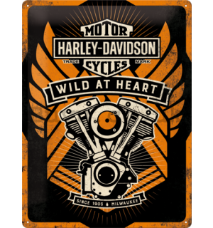 Metal sign - Harley-Davidson (Wild at Heart)