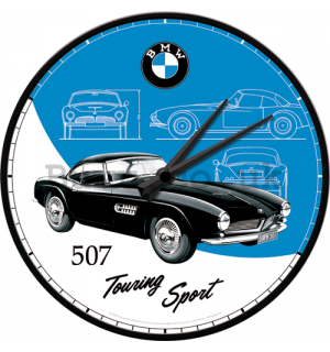 Retro wall clocks - BMW (507 Touring Sport)