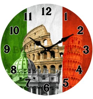 Glass wall clock - Italy