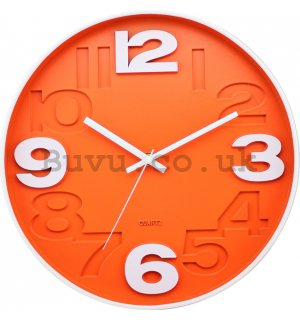 Wall clock: Orange - 30 cm