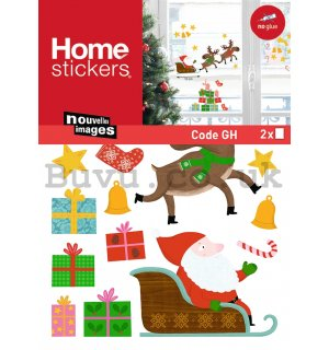 Christmas glass sticker - Santa Claus