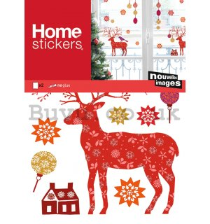 Christmas glass sticker - Deer