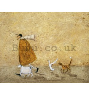 Painting on canvas: Sam Toft, Ernest Doris Horace and Stripes