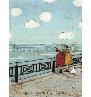 Painting on canvas: Sam Toft, Her Favourite Cloud