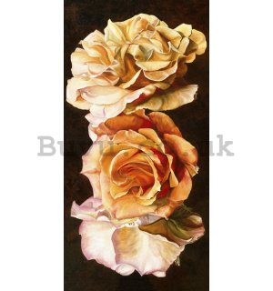 Painting on canvas: Sarah Caswell, Rose trio