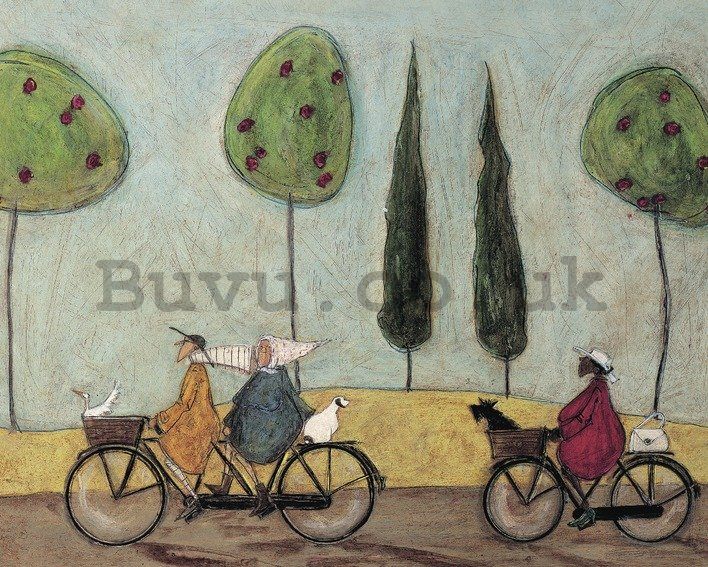 Painting on canvas: Sam Toft, A Nice Day for It