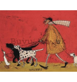 Painting on canvas: Sam Toft, Walkies