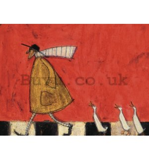 Painting on canvas: Sam Toft, Crossing with Ducks