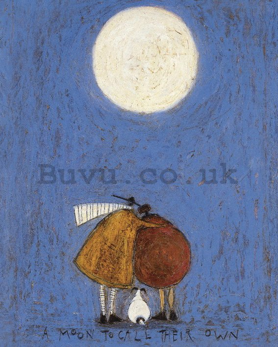 Painting on canvas: Sam Toft, A Moon to Call Their Own