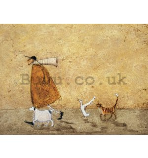 Painting on canvas: Sam Toft, Ernest, Doris, Horace & Stripes