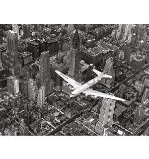 Painting on canvas: Time Life, DC-4 Over Manhattan