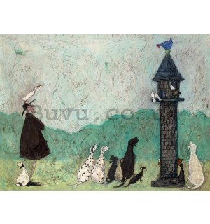 Painting on canvas: Sam Toft, An Audience with Sweetheart