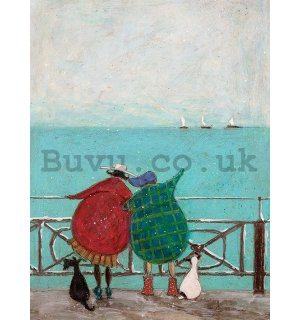 Painting on canvas: Sam Toft, We Saw Three Ships Come Sailing