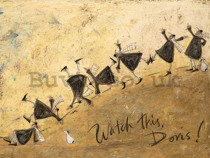 Painting on canvas: Sam Toft, Watch This, Doris!