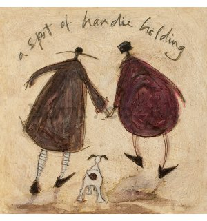 Painting on canvas: Sam Toft, A Spot of Handie Holding