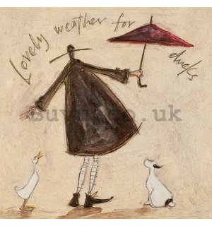 Painting on canvas: Sam Toft, Lovely Weather for Ducks
