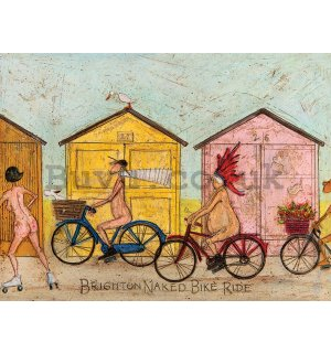 Painting on canvas: Sam Toft, Brighton Naked Bike Ride