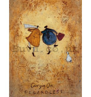 Painting on canvas: Sam Toft, Carrying on Regardless