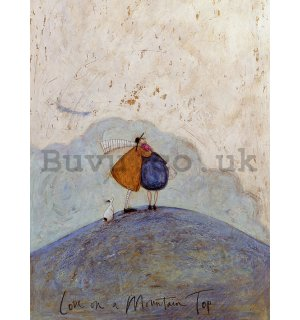 Painting on canvas: Sam Toft, Love on a Mountain Top
