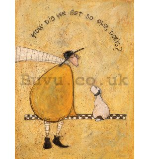 Painting on canvas: Sam Toft, How Did We Get So Old, Doris?