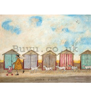Painting on canvas: Sam Toft, Spotty Joggers