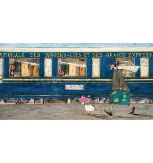 Painting on canvas: Sam Toft, Orient Express Ou La La