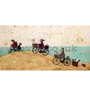 Painting on canvas: Sam Toft, Electric Bike Ride