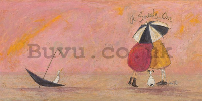 Painting on canvas: Sam Toft, A Sneaky One II