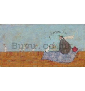 Painting on canvas: Sam Toft, Afternoon Tea
