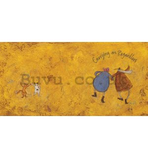 Painting on canvas: Sam Toft, Carrying On Regardless II